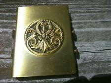 Pocket Retractable Double Shoe Brush Metal and Soft Bristles Brass Case Vintage