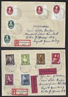 GERMANY 1940's 50's COLLECTION OF 21 REGISTERED FDCs & SPECIAL CANCELLATIONS