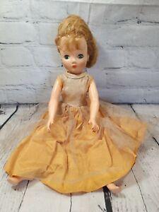 "Vintage IDEAL Ms Revlon ? 17"" Vinyl Face Doll Sleep Eyes Painted Nails"