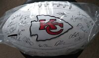 2019 Kansas City Chiefs NFL Team Roster Signature Superbowl Ball with Stand