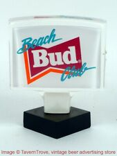 1980s Budweiser Beer Bud Beach Club 4 inch Acrylic Tap Handle TavernTrove