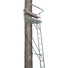 Lone Wolf Hunting Tree Stand 17' Steel 2 Two Man Ladder Stand 500 Lbs Alpha Tech