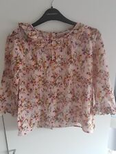 Girls Next pink floral ruffle boho top. age 13
