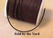 BROWN 1mm ROUND Leather Lacing for 1:32 Scale Stablemate Tack - SOLD BY THE YARD