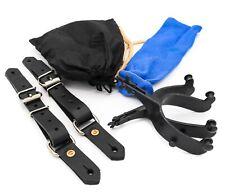 Bull Riding Spurs 22.5 Degree Offset spur straps, bull riding rosin & blue sock