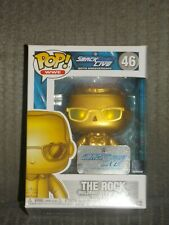New ListingPop Funko The Rock Gold Smackdown Live 20th Anniversary Exclusive *New*