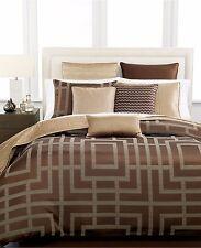 Hotel Collection Savoy Espresso Standard Pillow Sham Textured BROWN Bedding