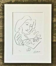 Pablo Picasso Lithographie Signiert -747/800 ex -Femme écrivant, Gongora IV1972