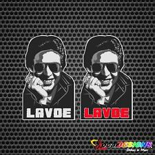 2x HECTOR LAVOE  VINYL CAR STICKERS DECALS