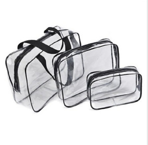 Cosmetic Makeup Toiletry Clear Transparent PVC Travel Wash Bag