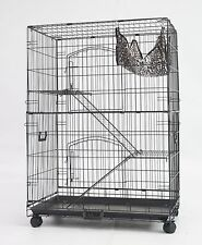"30"" New Homey Pet Folding Wire Cat Ferret Chinchilla Cage Crate w Tray &Hammock"