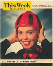 This Week Magazine 9 December 1956 - You Can Be a Brainstormer. New Ski Helmets