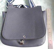 Laura Ashley Dark Blue Cross Body Handbag Bag Strap Leather Look Never Used