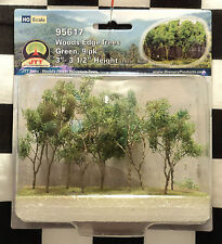"JTT SCENERY 95617 WOODS EDGE TREES - GREEN  3"" - 3 1/2""  HO-SCALE  9 PER PACK"
