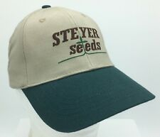 Steyer Seeds K Products Embroidered Tan Snapback Hat Farming Agriculture