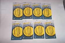 "Lot 8 Elco Anchor Wire Adjustable Plate Hangers - 5 1/2""-8"" New"