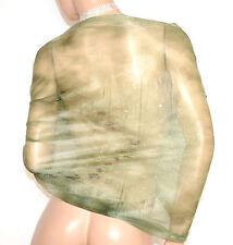 STOLA VERDE coprispalle maxi foulard elegante scialle velato brillantini A2