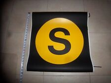 22x24 S LINE NY NYC SUBWAY ROLL SIGN SPECIAL SHUTTLE MANHATTAN BROOKLYN YELLOW