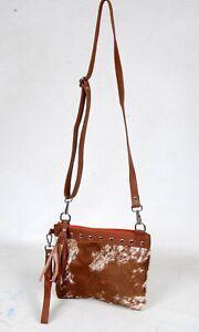 Real Cowhide Cross body Purse Handbag & Shoulder Bag Clutch Cow Leather SB-6947