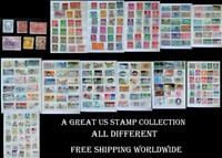 Great Stamp Collection From United States & All Different, Free World Shipping
