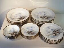 Set da cena orientale Made In Japan Hand Painted dorati taglio 6 coperto