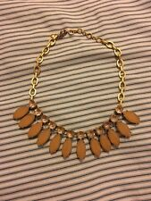 classic statement necklace. W/ dustbag Nwot j crew gold pink beige