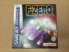 F Zero Maximum Velocity Complete Boxed Nintendo Gameboy Game Good Condition