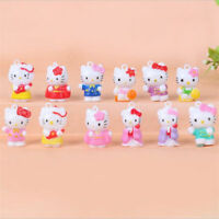 12pcs Hello Kitty Anime Figures Mini Figurine Display Kids Toy Gift 2CM AAA