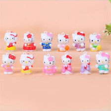 12pcs Hello Kitty Anime Figures Mini Figurine Display Kids Toy Gift 2CM ##