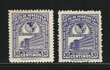 Venezuela: Scott C230 x 2 one yellow color omited, mint NH. VE2579