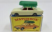 Matchbox No. 45 Ford Corsair & Boat in Original 'E4' Box