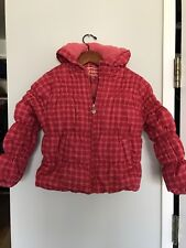 Girls Dollhouse Pink Polka Dot Quilted Jacket Puffer Hooded Winter Coat L 6X
