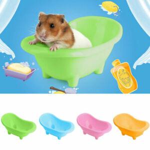 Small Animal Hamster Bathroom Sand Room Hamster Sauna Toilet Bathtub Cleaning UK
