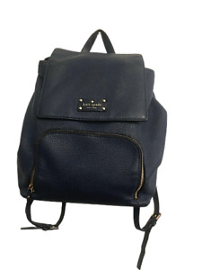 Kate Spade Navy Blue Leather Backpack