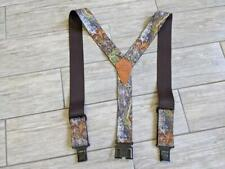 vintage MOSSY OAK breakup CAMOUFLAGE perry suspenders ONE SIZE