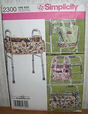 Walker Handicap Bags Accessories Organizers Sewing Pattern/Simplicity 2300/UCN