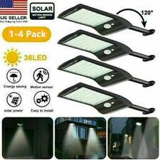 1-4x 36LED Waterproof Solar Wall Light Infrared&Light Sensor Outdoor Street Lamp