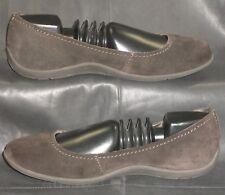 Merrell espresso brown suede closed toe slip on flat pump Women's shoes sz US 8