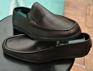 GUCCI Men's  Brown  Leather drivers  shoes loafers Italy Sze 11.D