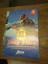 American Laser Games DRUG WARS CRIME PATROL 2 Video Game flyer- good original