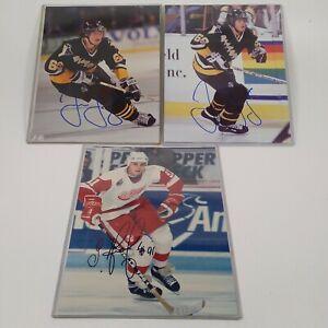 Sergei fedorov Jaromir Jagr Signed Pittsburgh Wings 8x10 Photo Autographed NHL