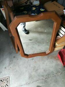 2 Specchi legno Marrone Vintage Specchio da Parete