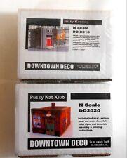 Downtown Deco N Scale XXX 2 Building Kit Set Save $15 Great Detail & Graphics!