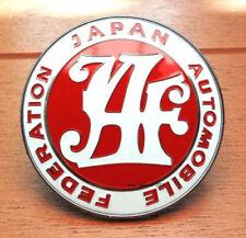 Red JAF Logo Japan Automobile Federation JDM Car Grille Emblem Badge