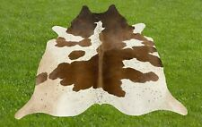Small Cowhide Rugs Brown Real Hair on Cow Hide Skin Leather Area Rug 5 x 5 ft