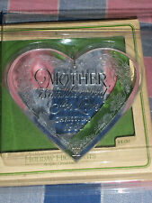 "Hallmark  Ornament  Acrylic Mother Another Word for Love 1980 About 3 1/2"" Hi"
