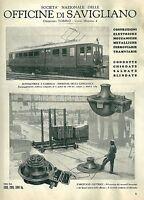 1935 OFFICINE DI SAVIGLIANO Torino pubblicità originale treni ferrovia