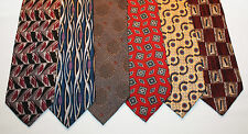 NEW Lot of 6 Designer Neck Ties w Colorful Patterns, Christian Dior & more L001