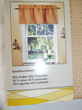"""STYLE SELECTIONS  DESIGNABLES VALANCE ABBY LANE SAND COLORS 55""""W X 17""""L NWT"""