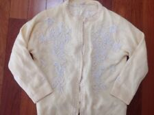Vintage Women's Size 36 Sweater Jacket with pearls